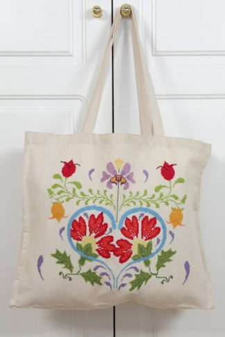 ready to cross stitch vintage bag